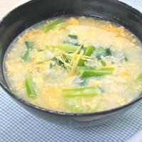 魚の旨みと生姜で温まる〜かき玉スープごはん。
