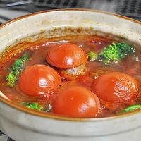 トマトのチーズinハンバーグ鍋  ☆ 感謝のつくレポ♪