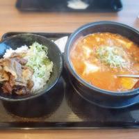 【外食】 カルビ丼とスン豆腐専門店 韓丼! * 海鮮スンドゥブ