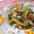 ❤梅干と鶏もも肉のスパゲッティだょ(σ・∀・)σ❤