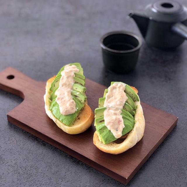 アボカド梅マヨ簡単トースト
