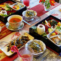 【我が家にて超姉ちゃんとランチしました^^】チキン+鮪+菜園常備菜料理など^^ by あきさん