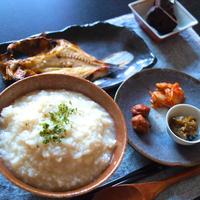 鯵の干物で和定食朝ごはん。