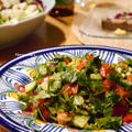 モロッコ料理な晩ご飯より『モロッコ風パクチーたっぷりサラダ』、母の日の似顔絵×2。