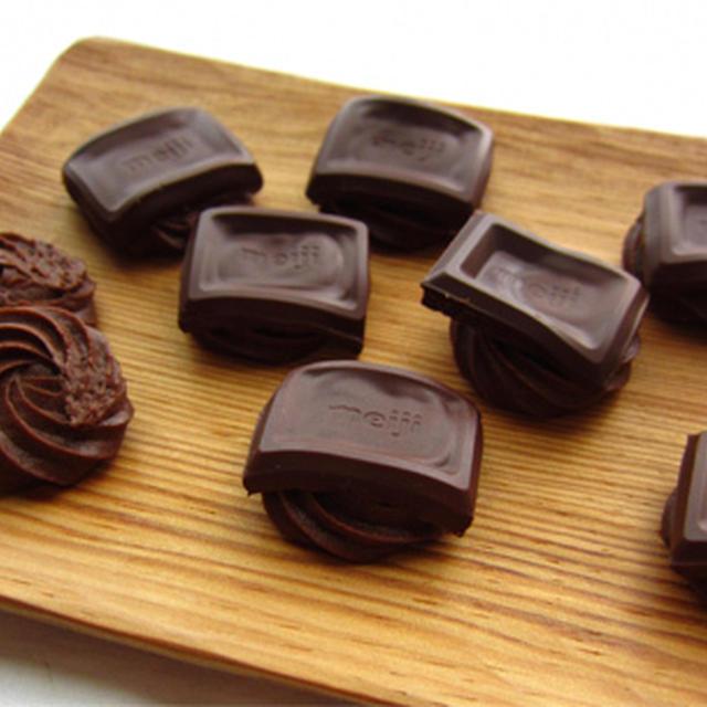板チョコ仕上げの絞り出しクッキー