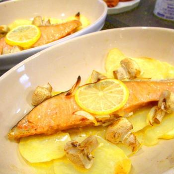 【レポ】出張個人レッスン/塩鮭でかんたん レモンマリネのグリル