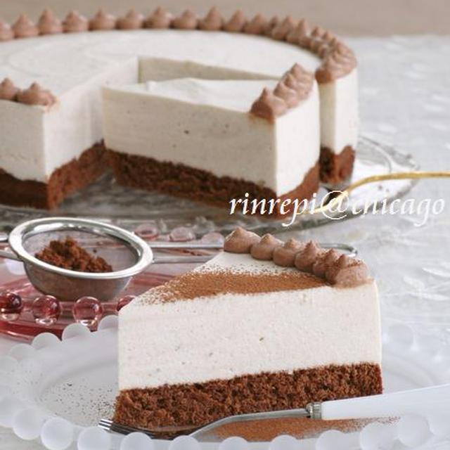 ココアスポンジにチョコクリーム バナナムースケーキ