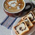 チョコチップとカシューナッツのミニ渦巻きパン