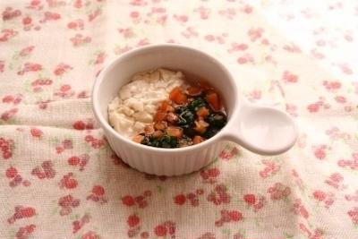 レシピブログ連載☆離乳食レシピ☆「豆腐の野菜あんかけ」更新のお知らせ♪