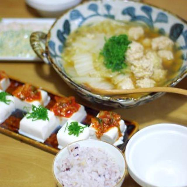 鶏団子と白菜の中華スープ煮