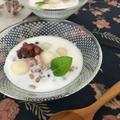 *ベトナム風スイーツ 豆腐白玉のココナッツぜんざい♪ *カラフルでさわやか♪密田恵さんイラスト展。