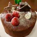 苺と生チョコクリームのクリスマスケーキ♪