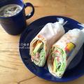 生ハムとアボカドのサラダラップ(朝食2015.6.16)