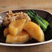 冷凍大根で味しみ時短!大根と豚小間のオイスター煮