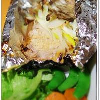 下仁田ネギと豚の味噌+塩麹漬けのホイル焼き