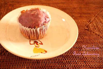 紫芋のクイックブレッド