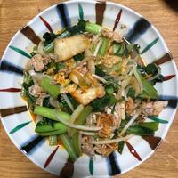 群馬県産小松菜で豚キムチ