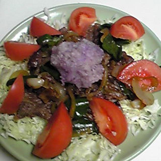 牛焼き紫大根おろしのせ