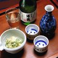 冷や、ぬる燗?1本で両方楽しめる日本酒でほんわか〜と、簡単!山葵漬のおつまみ。