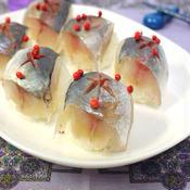 アジの洋風手まり寿司~ピクリングスパイスの香り~