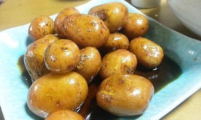 ルクエで時短~ジャガイモ甘醤油旨煮 串に刺したら~ジャガだんご(キッチン ラボ)
