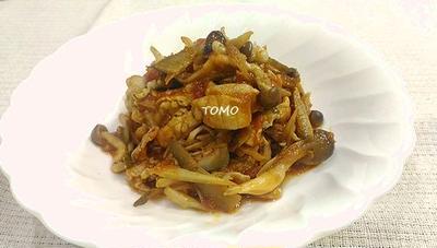 野菜高騰対策に♪豚肉とゴボウのトマト煮
