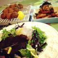 ・春の鎌倉野菜と甘海老塩辛サラダ                                                   ・トラフグの和風おろし               ・海老のすり身団子