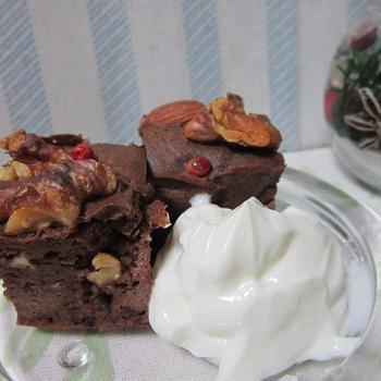 ビターチョコと豆腐で作ったチョコケーキ