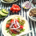 夏休みクッキングにも♪ 自家製トルティーヤで、タコス 豚挽き肉→手作りタコス、タコライス、ビビンバに使い回す