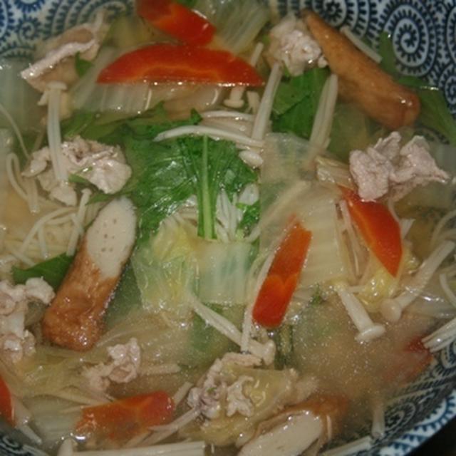 12月19日  具沢山の にゅう麺