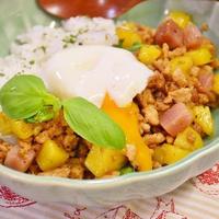 【スパイス大使】カラフルポテトと鶏肉のガパオライス