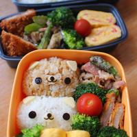 2015年のお弁当、リラックマ、こぶたちゃん、パンダ