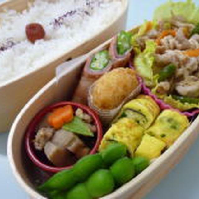 6月15日 野菜たっぷり豚の生姜焼き弁当