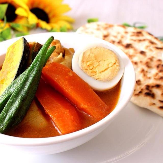 暑い時は辛いもの!夏を乗り切る野菜たっぷり☆簡単サラサラスープカレー