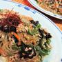 【レシピ】ピーマン嫌いの息子もペロッと【春雨と豚ひき肉の中華炒め】#フライパン1つ#ご飯がススム