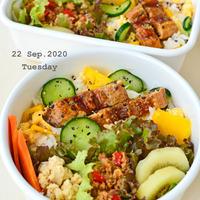 9月24日 木曜日 挽肉とキャベツのトマトバジル炒め煮