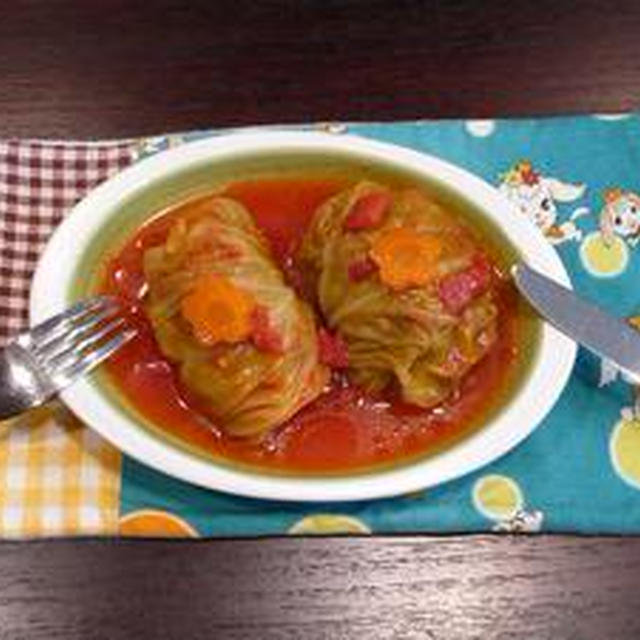 ふわっとジューシー☆ロールキャベツ、トマト味