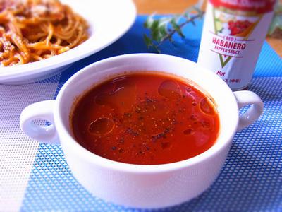 レンジで温めるだけ! ホットトマト野菜ジュース