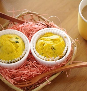 緑黄色野菜の朝食マフィン