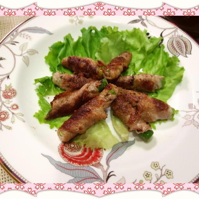 アスパラガスの豚肉巻き