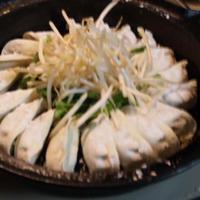 南部鉄鍋焼き餃子+蒸し野菜ナムル (キッチン ラボ)