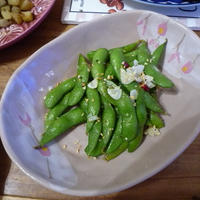 枝豆のレモンペパーミックス炒め