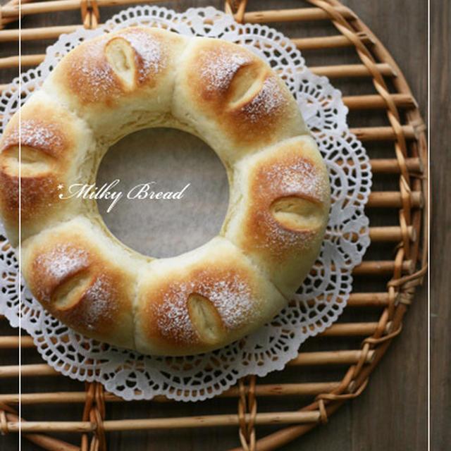 エンゼル型deふわっふわなミルキーパン♪