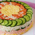 こんなお寿司は、出前してくんないよ おひな祭りケーキずし
