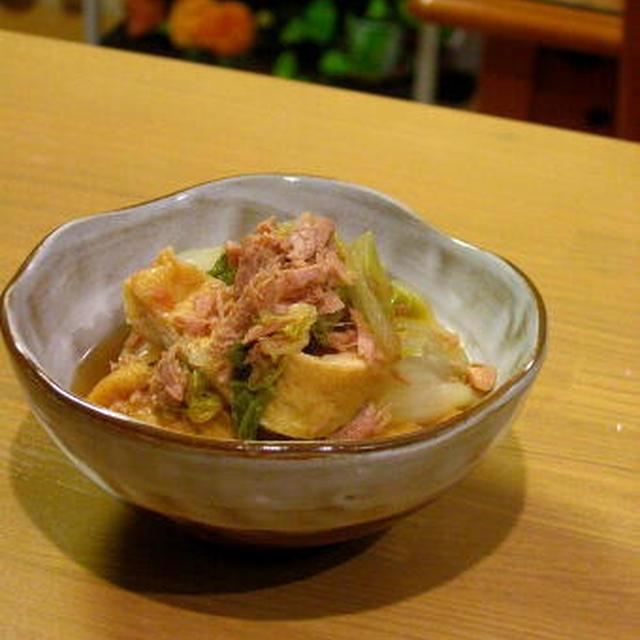 【小さいおかず】冬の野菜だと思ってた。春白菜とツナの煮びたし