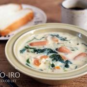 ほうれん草とウインナーのチーズクリームスープと今日のレシピ