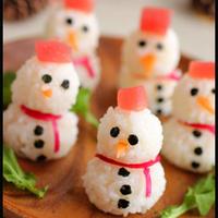 雪だるまのマグロ寿司