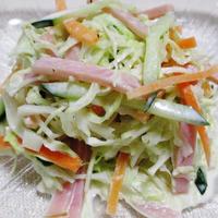 キャベツとハムのレモンペパーコールスローサラダ