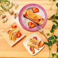 【ヘルシースイーツ】フライパンで簡単☆豆腐クリームのもちもちオムレット