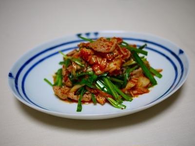 豚キムチ と 春雨サラダ